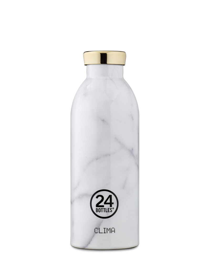 24 BOTTLES - Thermo CLIMA 500ml MARBLE CARRARA