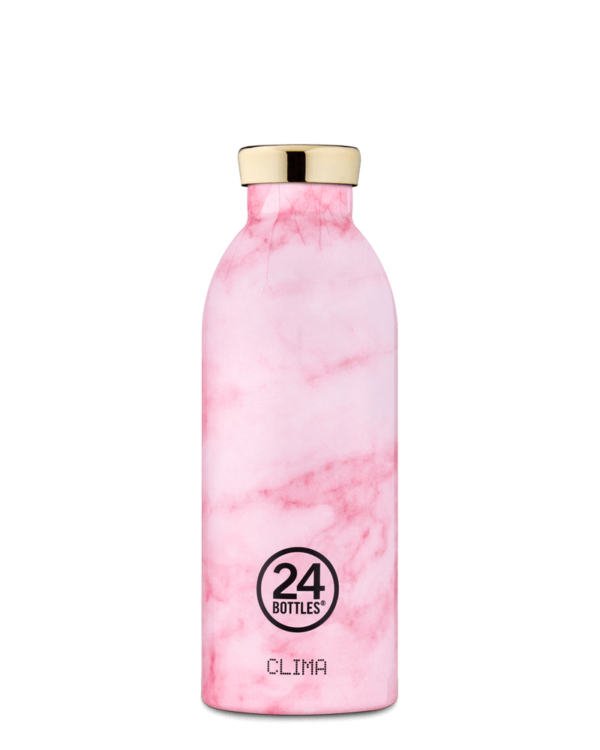 24 BOTTLES - Thermo CLIMA 500 ml MARBLE PINK